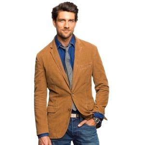J CREW brown corduroy blazer sports coat large